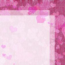 Letter Form With Hearts Royalty Free Stock Images