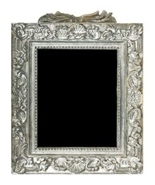 Free Old Silver Frame Stock Photography - 19752702