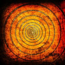 Free Orange Circles Grunge Backgrouns Stock Photos - 19752713