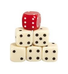 Free Pyramid Of Gaming Dice Royalty Free Stock Images - 19752729