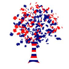Free Russian Flag Tree Royalty Free Stock Photography - 19752757
