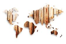 Free Wooden Map Royalty Free Stock Photos - 19752868