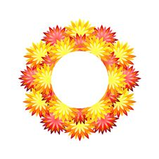 Free Wreath Of Flowers Royalty Free Stock Photography - 19752877