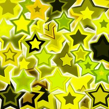 Yellow Glowing Stars Royalty Free Stock Images