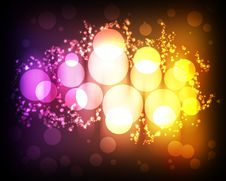 Free Abstract Background With Glowing Circles Stock Image - 19752891