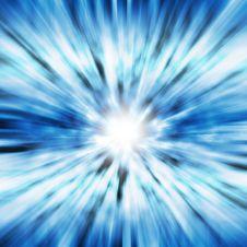 Blue Lighting Blast Royalty Free Stock Photography