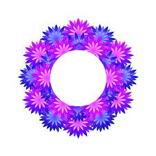 Free Wreath Of Blue Flowers Royalty Free Stock Images - 19752949