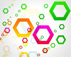 Colored Hexagons Stock Photography