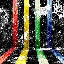 Free Colorful Wood In White Paint Royalty Free Stock Photography - 19753067