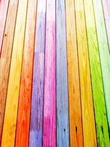 Free Colorful Wood Planks Stock Photos - 19753073