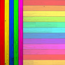 Free Colorful Wood Planks Royalty Free Stock Photo - 19753075