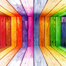 Free Colorful Wood Planks Royalty Free Stock Photography - 19753077