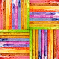 Free Colorful Wood Planks Stock Photography - 19753082
