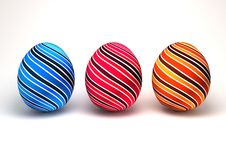 Free 3d Easter Eggs Royalty Free Stock Photos - 19753108