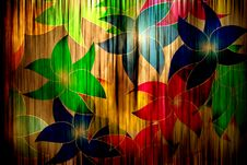 Free Flowers On Curtain Stock Images - 19753124