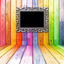 Free Frame In Colorful Wooden Room Royalty Free Stock Image - 19753126