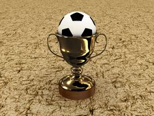 Soccer Ball And The Cup On A White Background Royalty Free Stock Photo