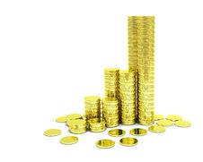 Free Golden Coins Royalty Free Stock Image - 19753166