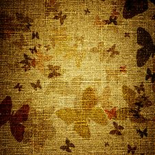 Free Grunge Butterflies On Canvas Stock Images - 19753244
