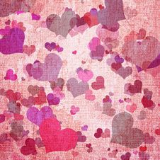 Free Canvas Texture With Hearts Stock Image - 19753251
