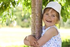 Free Little Girl In The Park Royalty Free Stock Image - 19753356