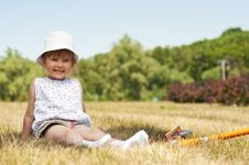 Free Little Adorable Girl In The Park Royalty Free Stock Images - 19753409