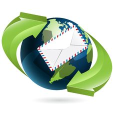 Globe And Envelope Royalty Free Stock Photo