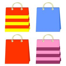 Free Color Bags. Stock Photography - 19754652