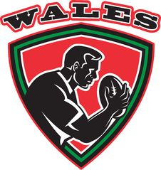 Free Rugby Player With Ball Wales Royalty Free Stock Photos - 19755068