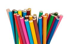Free Set Of Colored Pencils Stock Photo - 19755320