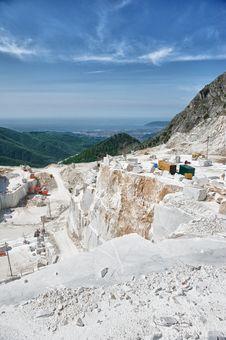 Querry In Tuscany, Italy, Carrara Royalty Free Stock Photos
