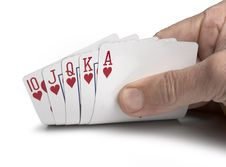 Free Royal Flush Stock Images - 19756624