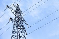 Transmission Power Line Stock Image