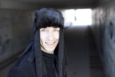 Free Smiling Young Man In Subway Tunnel Royalty Free Stock Photo - 19756855