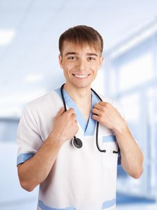 Free Medical Doctor With Stethoscope Stock Photography - 19756892