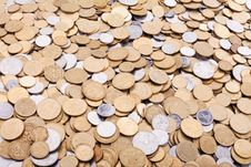 Free Ukrainian Coins Background Stock Photo - 19756900