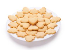 Free Cookies With Different Shapes On Plate Stock Photos - 19756913