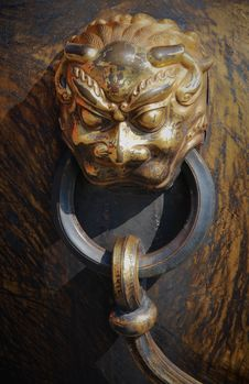 Free Bronze  Lion Head Royalty Free Stock Image - 19756996