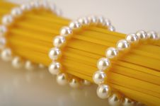 Free Pearls Wrapped On Pasta Stock Image - 19757131