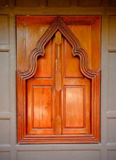 Free Thai  Style  Wooden Temple Window Royalty Free Stock Photo - 19757245