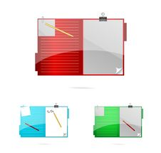 Free Colored And Glass Office Folders Set Stock Photography - 19757942