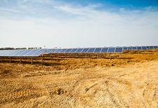 Solar Panel Plant Stock Photography
