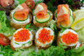 Free Caviar Sandwiches Royalty Free Stock Photo - 19761835