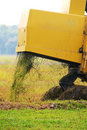 Free Close Up Of Paddy Harvest Machine From Back Stock Images - 19764524