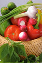 Free Basket With Vegetables. Stock Image - 19765491