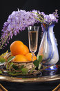 Free Flower, Wine And Oranges. Stock Photo - 19765620