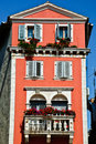 Free Tall Old European House With Red Walls Royalty Free Stock Photos - 19766258