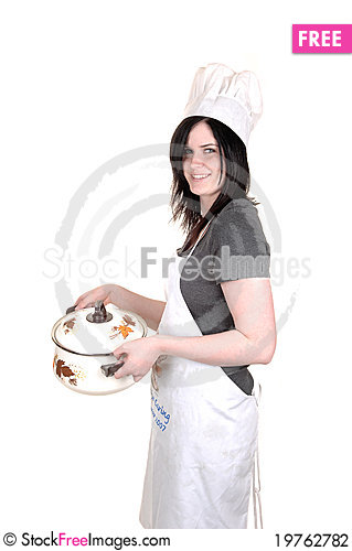 Free Girl Holding A Cook Pot. Stock Photography - 19762782