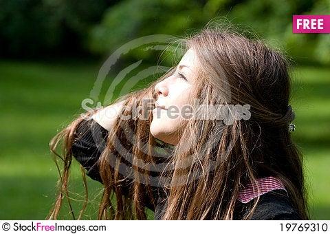 Free Bright Girl In Park Stock Photo - 19769310