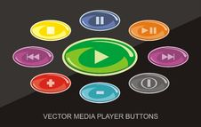 Free Player_buttons Royalty Free Stock Photography - 19760127